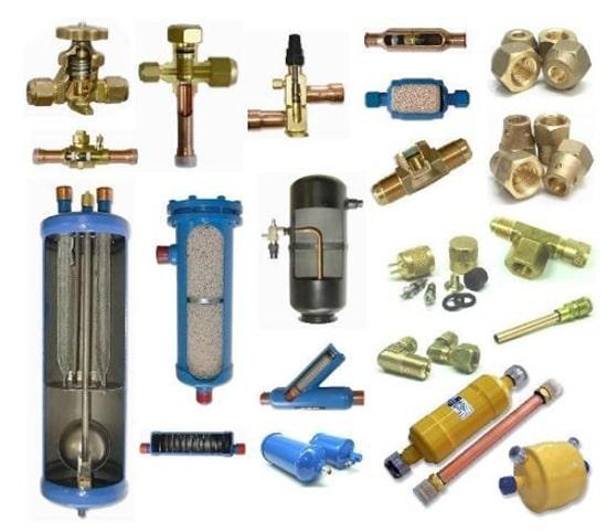 Các loại vật tư, linh kiện điện lạnh trong công nghiệp