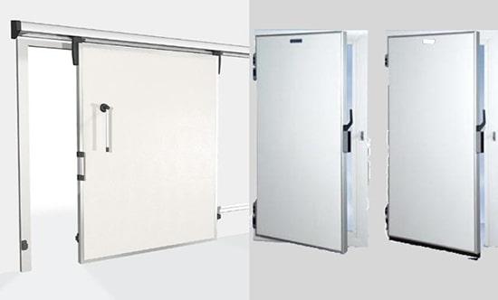 Hai kiểu cửa trượt và cửa kéo của kho lạnh công nghiệp